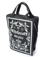 Poizen Industries Gothic Goth Occult Witchcraft Book Bag Vegan Leather Black