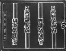 BABY BLOCKS WITH BEAR PRETZEL ROD CHOCOLATE CANDY MOLD BABY SHOWER PARTY FAVORS