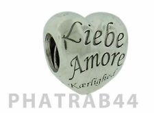 Authentic Pandora Sterling Silver Language of Love Bead 791111