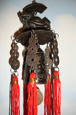 Chinois, lucky metal ~ tortue ~ windchime ~ bell ~ tenture ~ 011 ~ feng shui ~ vendeur britannique ~