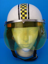 Vintage Helmet Motorcycle Scooter Visor Ear flaps Ski doo ? Size Medium