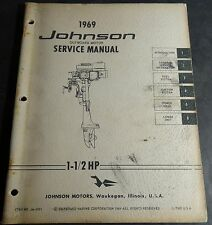 1969 JOHNSON OUTBOARD MOTOR 1-1/2 HP SERVICE MANUAL JM-6901  (612)