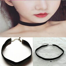New Black Velvet Choker Necklace Gothic Handmade Retro Burlesque Jewelry