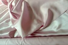 """Pale/Baby Pink Satin Backed Dupion Fabric - Poly-112cm or 44"""" wide - Per Metre"""
