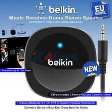 Belkin Bluetooth Music Receiver Wireless iPhone 6, 6Plus 5/5s/5c Galaxy HTC EU