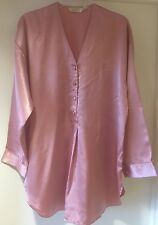 Victoria's Secret VTG Dusky Pink Satin Nightdress/Shirt Pyjama Top Lingerie M/L