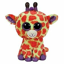 "NWT TY Beanie Boos 6"" DARCI Giraffe Justice Exclusive Boo 2014 Sparkly Plush NEW"