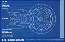 Framed Print - STAR TREK Blueprint USS Enterprise NCC-1701-D (Picture Poster Art
