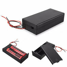 DC Holder Storage Box Case ON/OFF Switch Wire for 3.7V 2 x 18650 Battery Unique