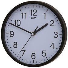 Moderne horloge murale silencieux sweep home office quartz batterie noir unité radcliffe