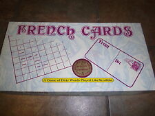 FRENCH CARDS, GOLDEN EDITION (A WORD GAME FOR LOVERS), VGUC