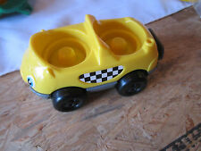 Fisher Price Little People car truck taxi driver dual carrier passenger yellow