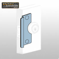 """Latch Protector By Entry Armor - 6"""" Center Rose Aluminum Secure Your Door Gap"""