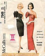 1960's VTG McCall's Misses' Dress by Pauline Trigere Pattern 7549 Size 14