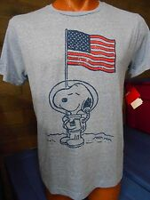 Mens Licensed Peanuts Snoopy American Astronaut Shirt New L