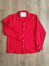 Levi's Vintage Clothing LVC 1940's Red Wool Western Over Shirt Large L £150 NEW