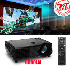 Full HD 1080P LED LCD VGA HDMI TV Home Theater Projector Cinema Y