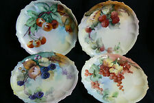 Rosenthal Claire RC Bavaria set of 4 Plates Hand Painted RARE berry design VTG