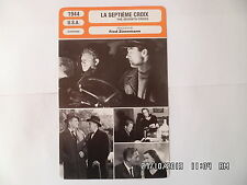 CARTE FICHE CINEMA 1944 LA SEPTIEME CROIX Spencer Tracy Signe Hasso Hume Cronyn