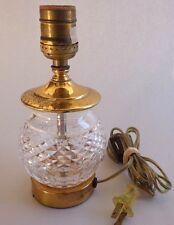 Vintage Waterford Crystal Boudoir Lamp Alana Pattern Acid Etched Signed Original