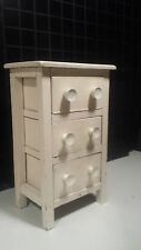 vintage shabby chic SMALL CHEST DRAWERS farmhouse rustic white wooden antique