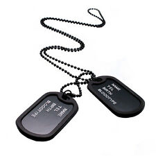 ARMY STYLE 2 DOG TAGS PENDANT SWEATER CHAIN NECKLACE MEN'S JEWELRY FIRST-RATE