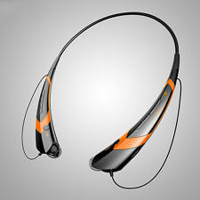 Bluetooth Wireless Headsets Stereo Headphone Earphone Sports Handfree Orange hot