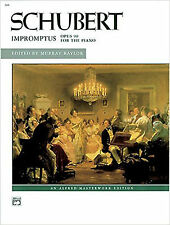 Schubert Impromptus Opus 90 for Solo Piano Sheet Music Book Advanced B78 S101