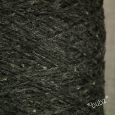 ANGORA WOOL BLEND YARN BLACK TWEED 500g CONE 10 BALLS DOUBLE KNIT FELTED DONEGAL