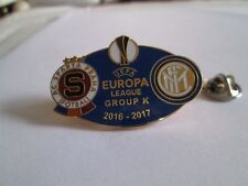 a1 SPARTA PRAHA - INTER cup uefa europa league 2017 spilla football calcio pins