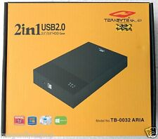 "USB External Sata Hard Drive Casing for 2.5"" 3.5 inch Dual HDD Portable Enclosur"