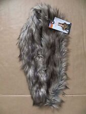 NEW Adult Medieval Faux Fur Stole Shoulder Cape Halloween Costume Cosplay Glam