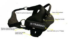 "Large Dual Purpose Dog Harness Girth - 31""-39"" 2 Free Badges 'IN TRAINING'"