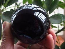 40MM HOT SELL OBSIDIAN POLISHED BLACK CRYSTAL SPHERE BALL 40MM +STAND/--