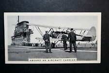 Royal Navy Aircraft Carrier Flight Deck    Vintage Action Photo Card # VGC