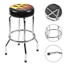 """Modern 29"""" Counter Height Flame Bar Stool Round Padded Seat Barstool Chair New"""