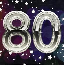 Ochenta Feliz 80 Aniversario Tarjeta Postal Plaza de las tarjetas de saludos