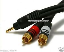 PREMIUM 3FT 2.5mm to 2RCA Male Stereo Cable 4 cellphone