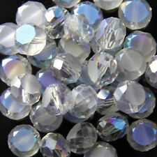 10pcs 10mm Swarovski  Flat drum Crystal beads C hyaline Blue