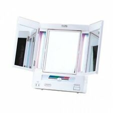 Jerdon 5X Magnification Tri-Fold Lighted Makeup Vanity Mirror Lighted New