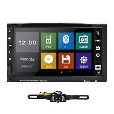 Camera+ Double 2 Din Car DVD Player Auto Stereo Radio CD Bluetooth RDS TV USA