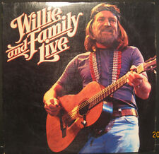 """Willie Nelson """"Willie and Family Live"""" Columbia Records 2 Lp Set"""