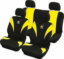 BRAND NEW CAR INTERIOR YELLOW & BLACK BEE CAR SEAT COVERS