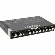 NEW! Clarion EQS755 7-Band Graphic Equalizer w/ Front 3.5mm Input Rear RCA Aux