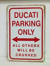 Ducati Parking Only Big Vintage Retro Metal Sign Garage Bar Studio Decor 30x40cm
