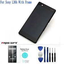 For Sony Xperia Z C6603 L36H Display LCD Touch Screen Digitizer Assembly +Frame
