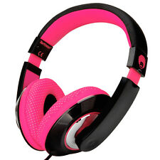 Girls Kids Childs Over Ear Pink Headphones Adjustable DVD MP3 iPod iPad in Car