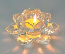 Handcrafted Crystal Lotus Flower Tea Light Holder Large Party/Wedding Decoration