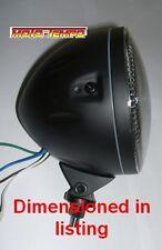 HALO Headlight 5 3/4 inch Black Metal Body Bottom Mount Bobber Cafe Racer Custom