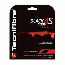 TECNIFIBRE BLACK CODE 4S Stringa di tennis - 12m - 1.25mm/17G-GRATIS UK P & P